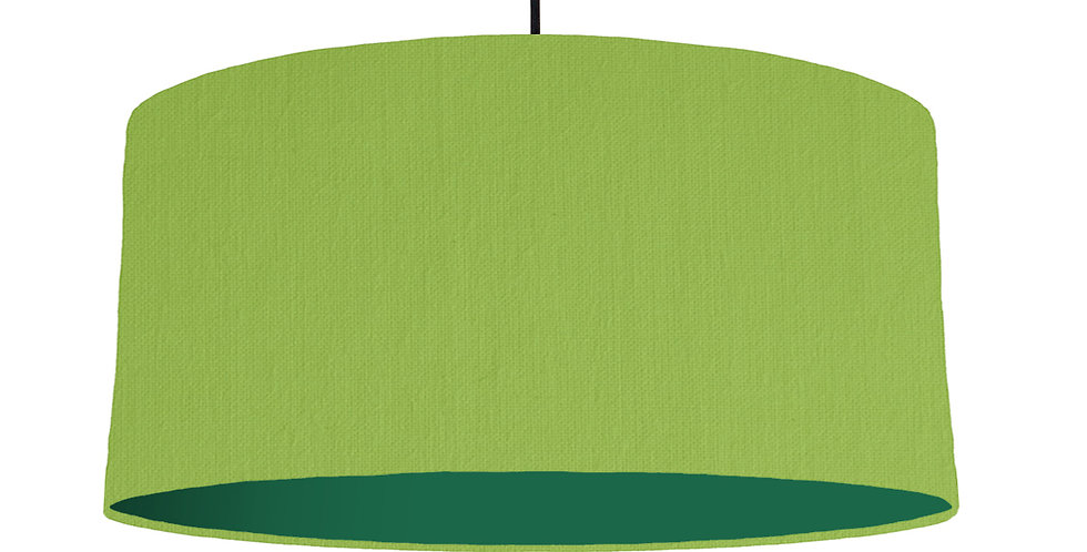 Pistachio & Forest Green Lampshade - 60cm Wide