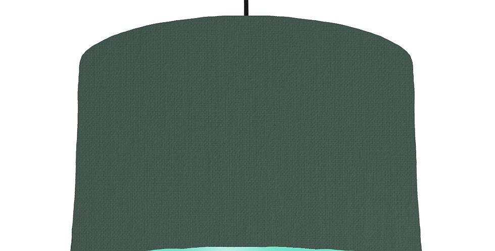 Bottle Green & Mint Lampshade - 40cm Wide