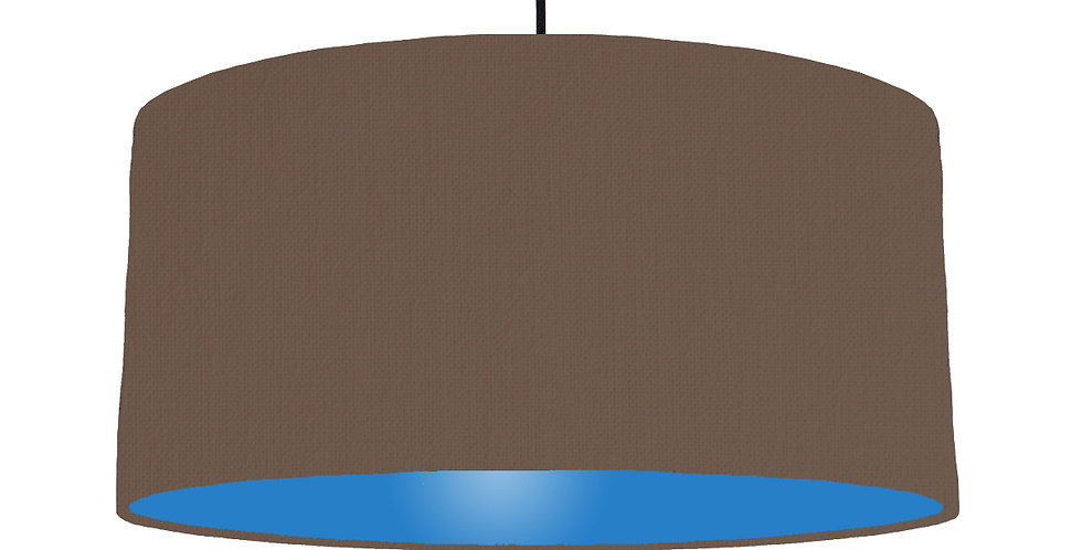Brown & Bright Blue Lampshade - 60cm Wide