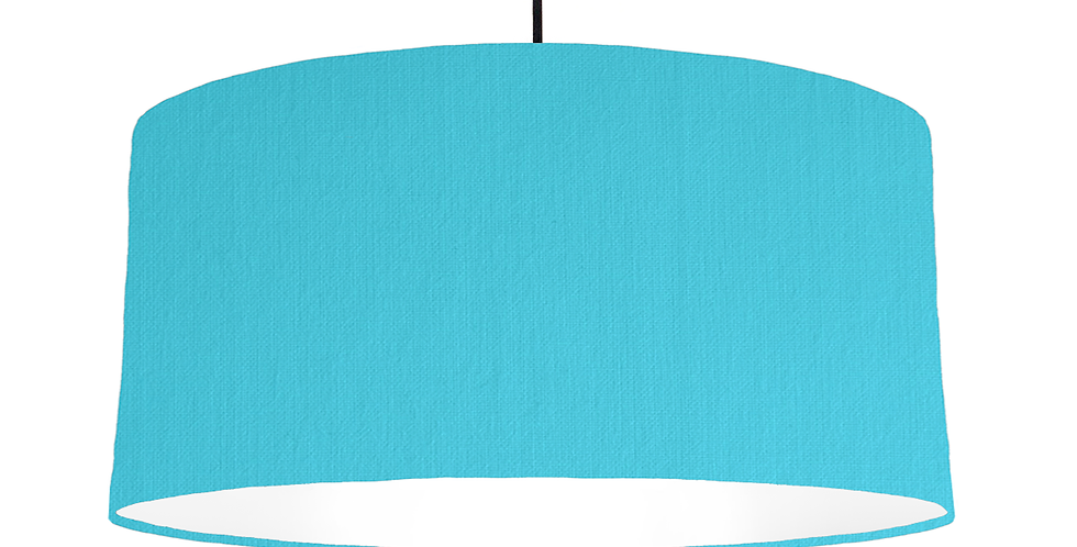 Turquoise & White Lampshade - 60cm Wide