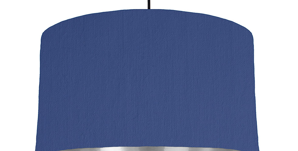 Royal Blue & Silver Mirrored Lampshade - 50cm Wide