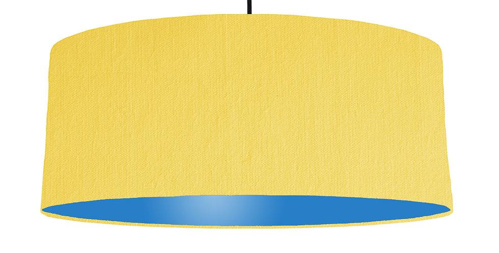 Lemon & Bright Blue Lampshade - 70cm Wide