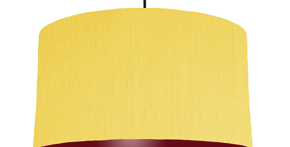 Lemon & Burgundy Lampshade - 50cm Wide