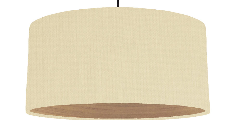 Natural & Wooden Lined Lampshade - 60cm Wide