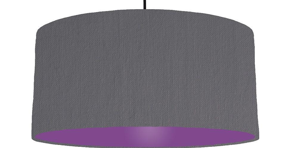 Dark Grey & Purple Lampshade - 60cm Wide