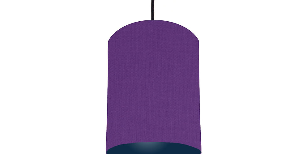 Violet & Navy Lampshade - 15cm Wide