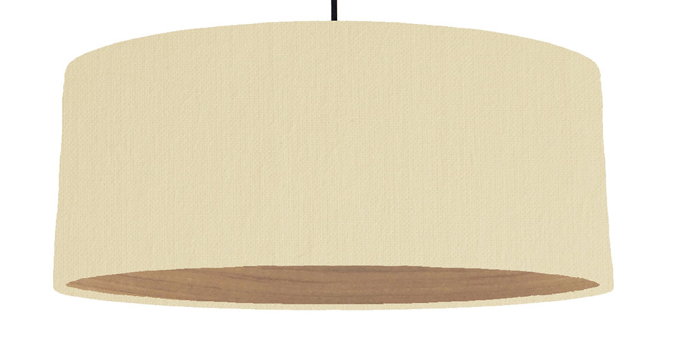 Natural & Wooden Lined Lampshade - 70cm Wide