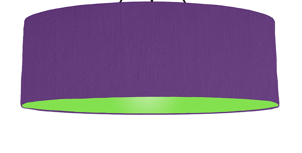 Violet & Lime Green Lampshade - 100cm Wide