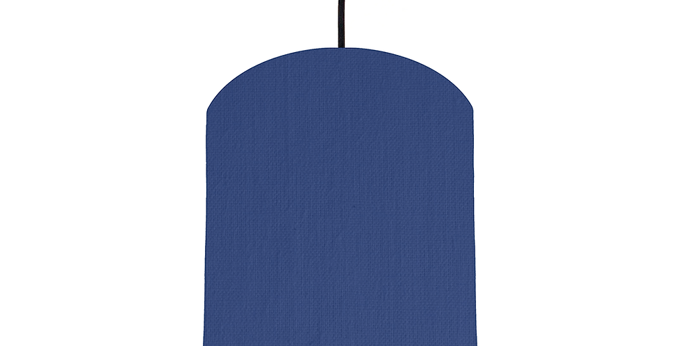 Royal Blue & Gold Mirrored Lampshade - 20cm Wide