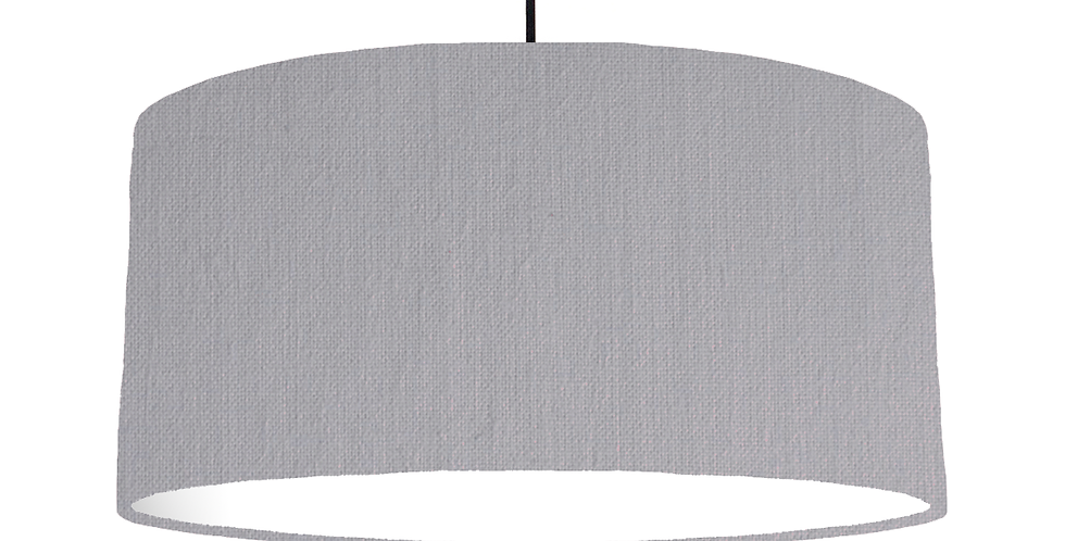 Light Grey & White Lampshade - 60cm Wide