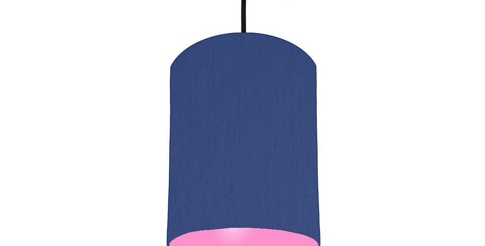 Royal Blue & Pink Lampshade - 15cm Wide