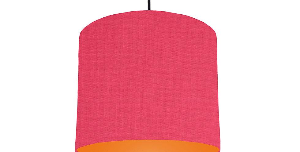 Cerise & Orange Lampshade - 25cm Wide