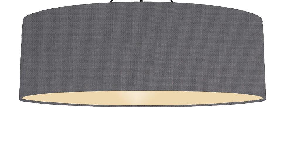 Dark Grey & Ivory Lampshade - 100cm Wide