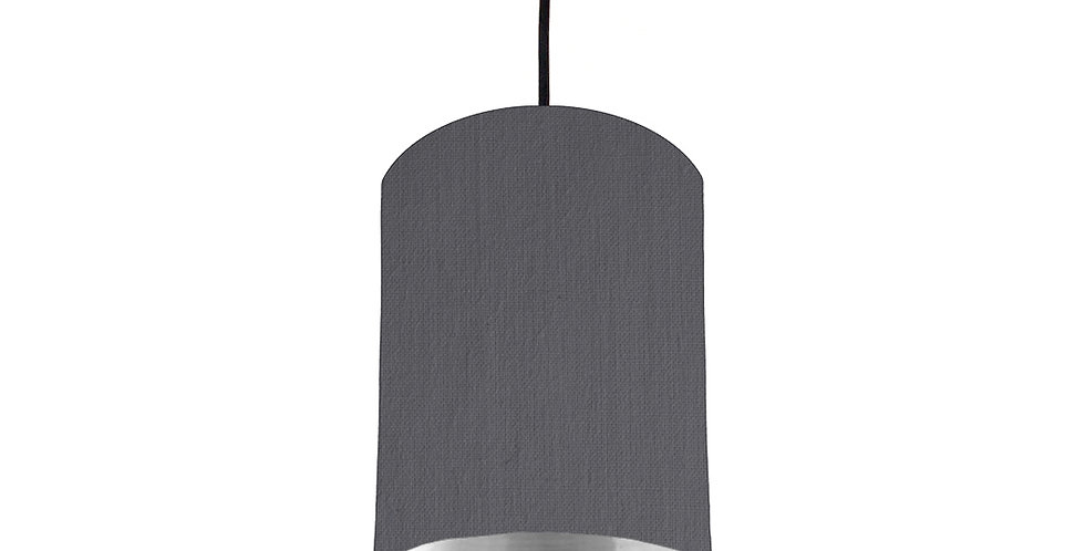 Dark Grey & Silver Mirrored Lampshade - 15cm Wide