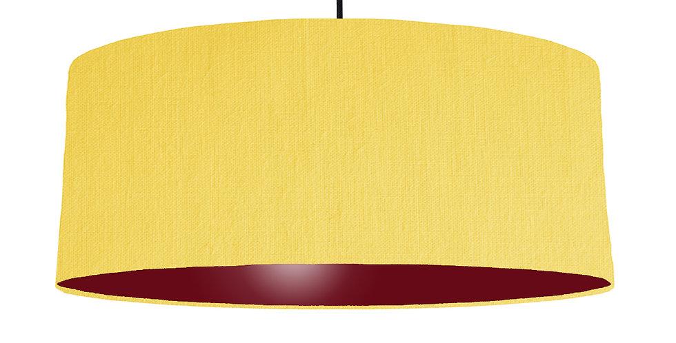 Lemon & Burgundy Lampshade - 70cm Wide