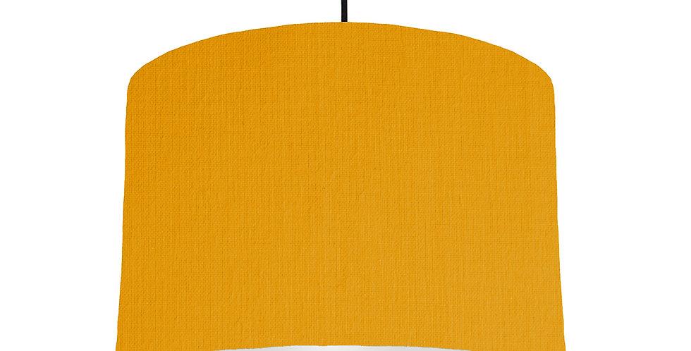 Mustard & Light Grey Lampshade - 30cm Wide