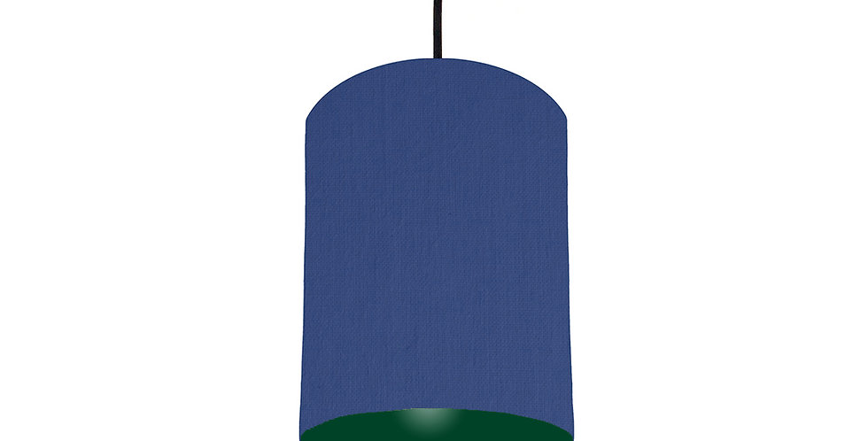 Royal Blue & Forest Green Lampshade - 15cm Wide