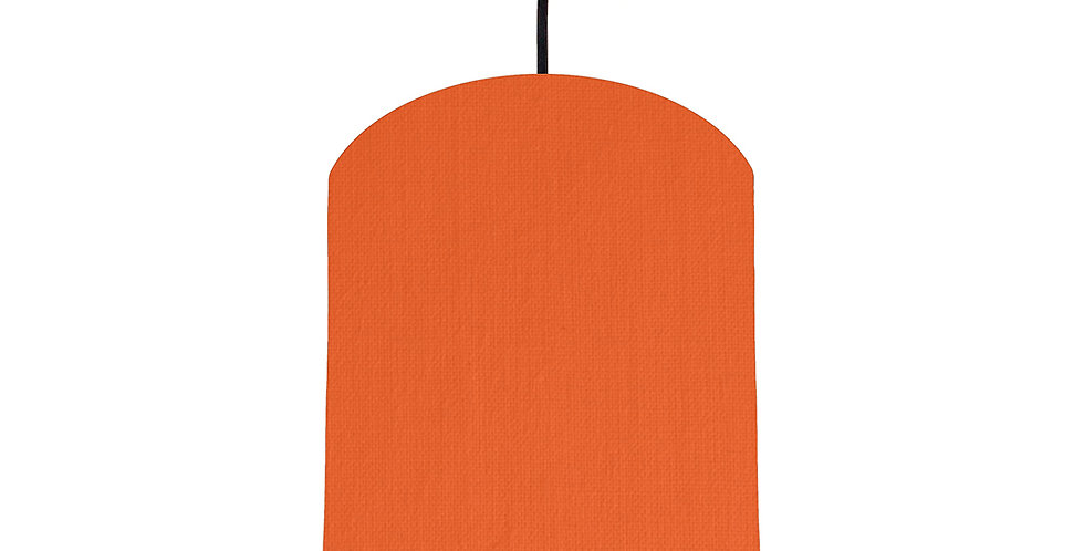 Orange & Brushed Copper Lampshade - 20cm Wide