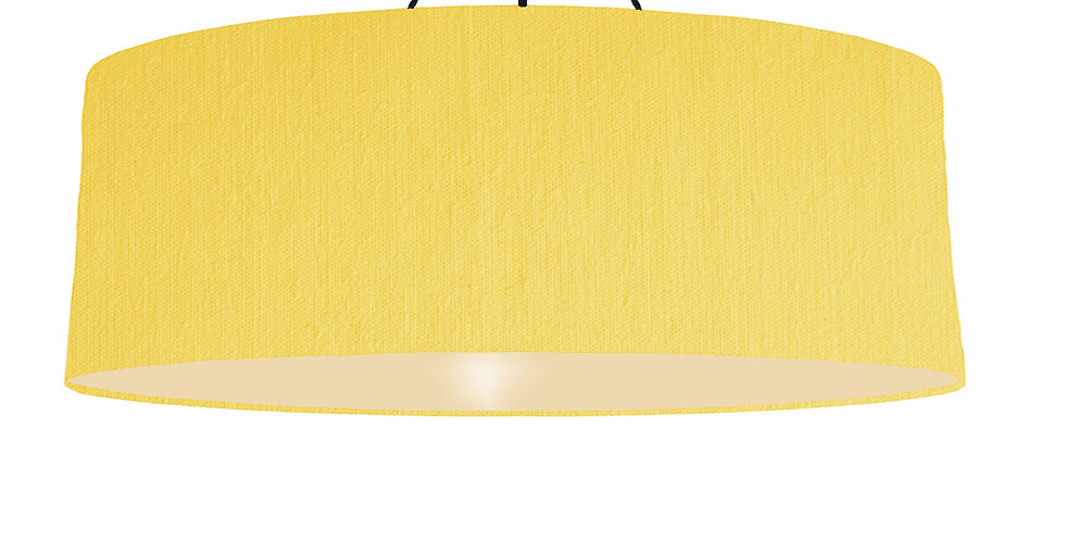 Lemon & Ivory Lampshade - 100cm Wide