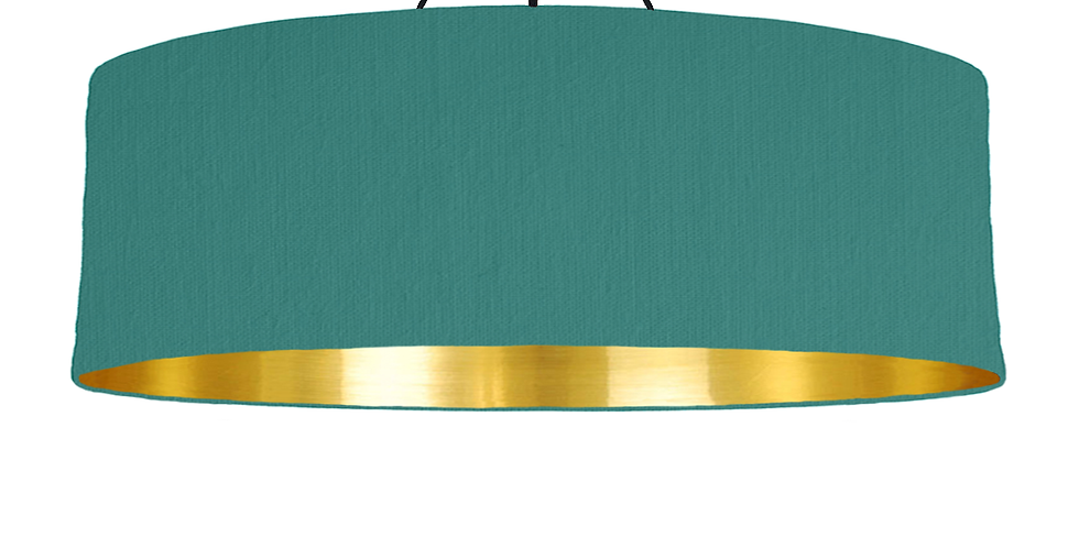 Jade & Gold Mirrored Lampshade - 100cm Wide