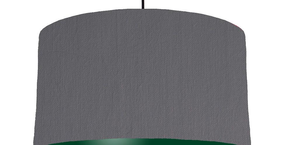 Dark Grey & Forest Green Lampshade - 50cm Wide