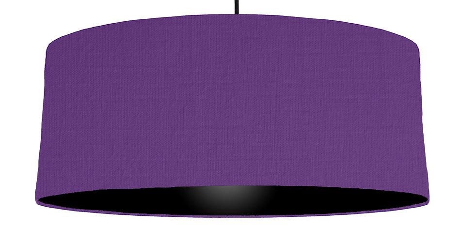 Violet & Black Lampshade - 70cm Wide