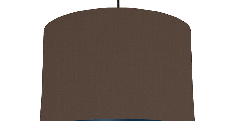 Brown & Navy Lampshade - 30cm Wide