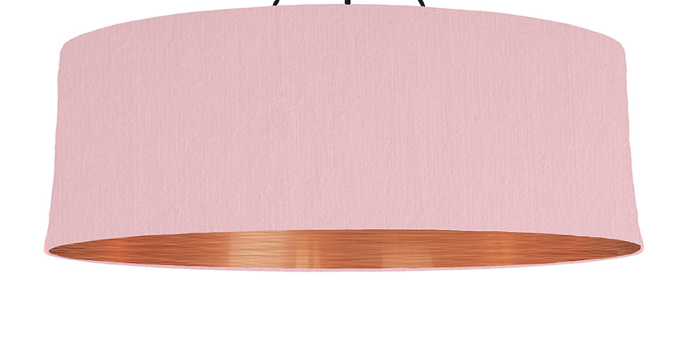Pink & Brushed Copper Lampshade - 100cm Wide