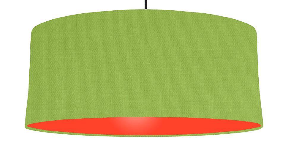 Pistachio & Poppy Red Lampshade - 70cm Wide