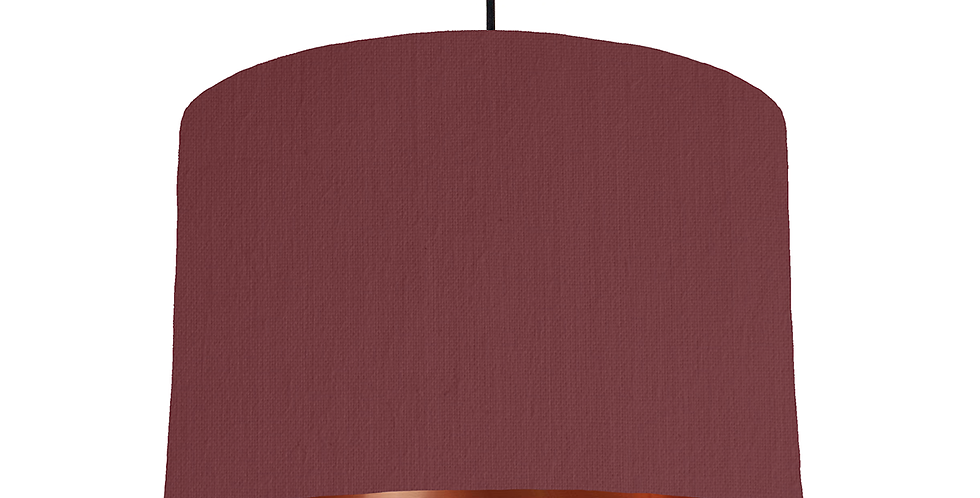 Wine Red & Copper Mirrored Lampshade - 30cm Wide