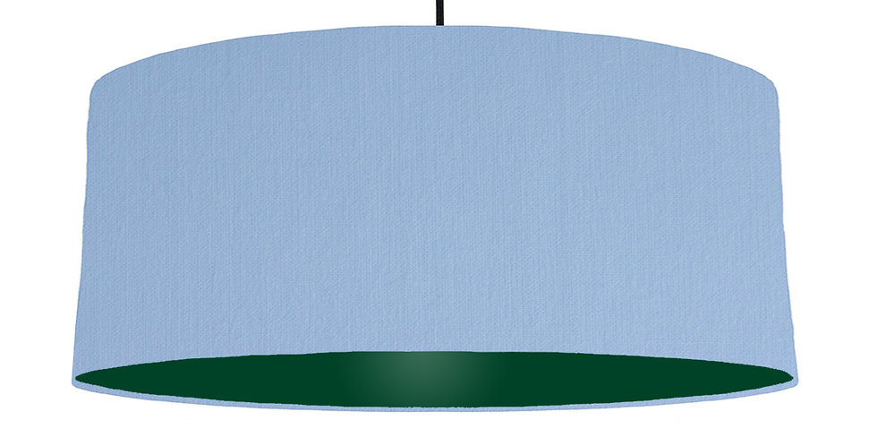Sky Blue & Forest Green Lampshade - 70cm Wide