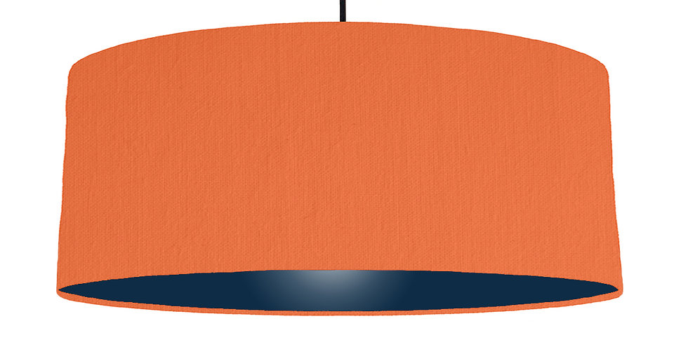 Orange & Navy Lampshade - 70cm Wide