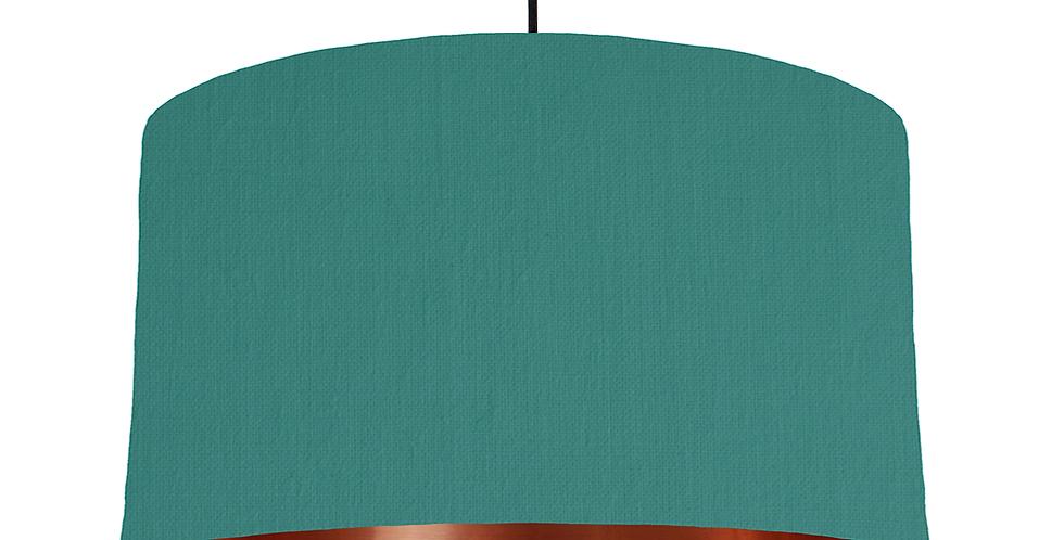 Jade & Copper Mirrored Lampshade - 50cm Wide