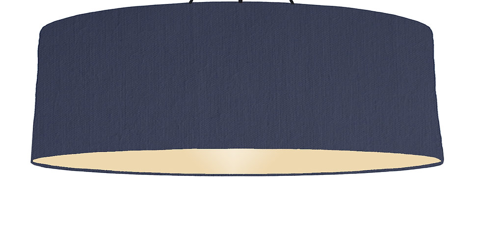 Navy Blue & Ivory Lampshade - 100cm Wide