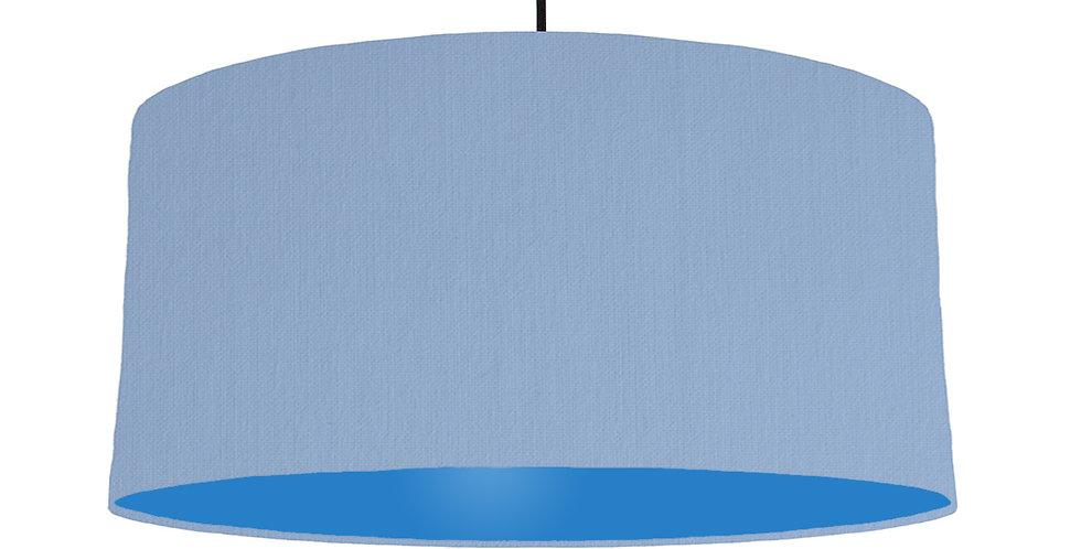 Sky Blue & Bright Blue Lampshade - 60cm Wide