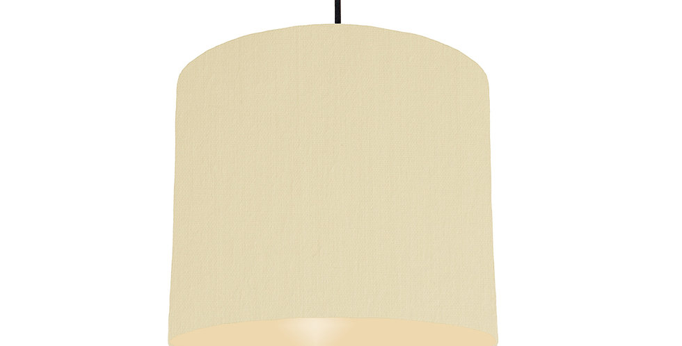 Natural & Ivory Lampshade - 25cm Wide
