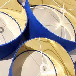 Blue and Gold Lampshades