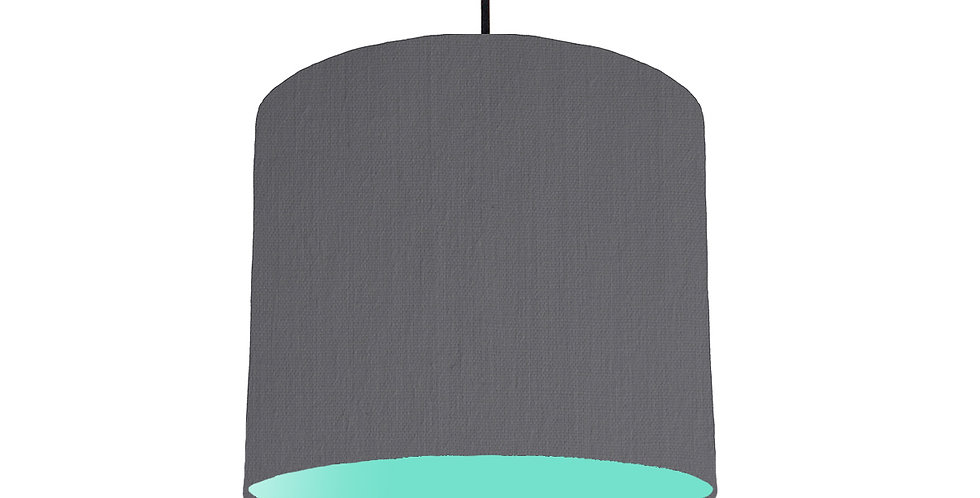 Dark Grey & Mint Lampshade - 25cm Wide