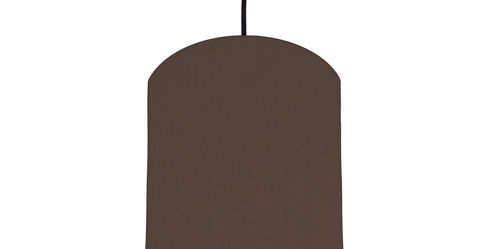 Brown & Pink Lampshade - 20cm Wide