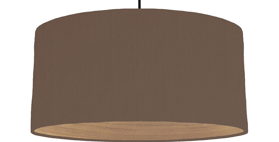 Brown & Wooden Lined Lampshade - 60cm Wide