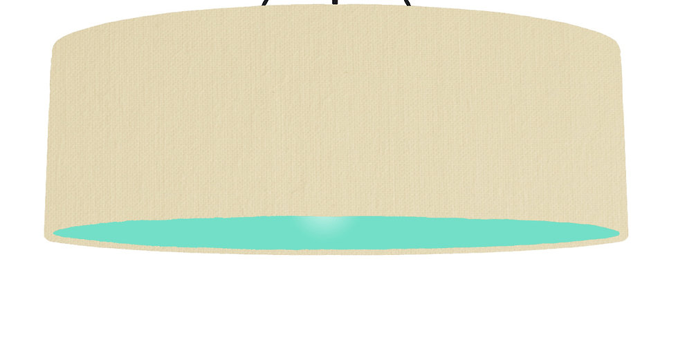 Natural & Mint Lampshade - 100cm Wide