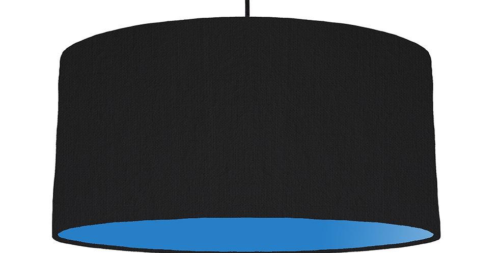 Black & Bright Blue Lampshade - 60cm Wide