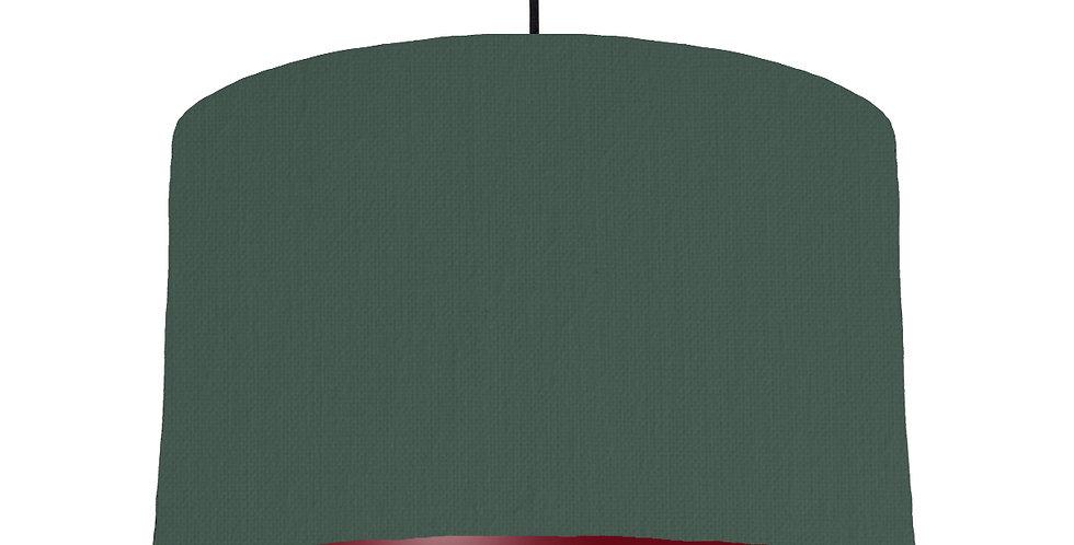 Bottle Green & Burgundy Lampshade - 40cm Wide