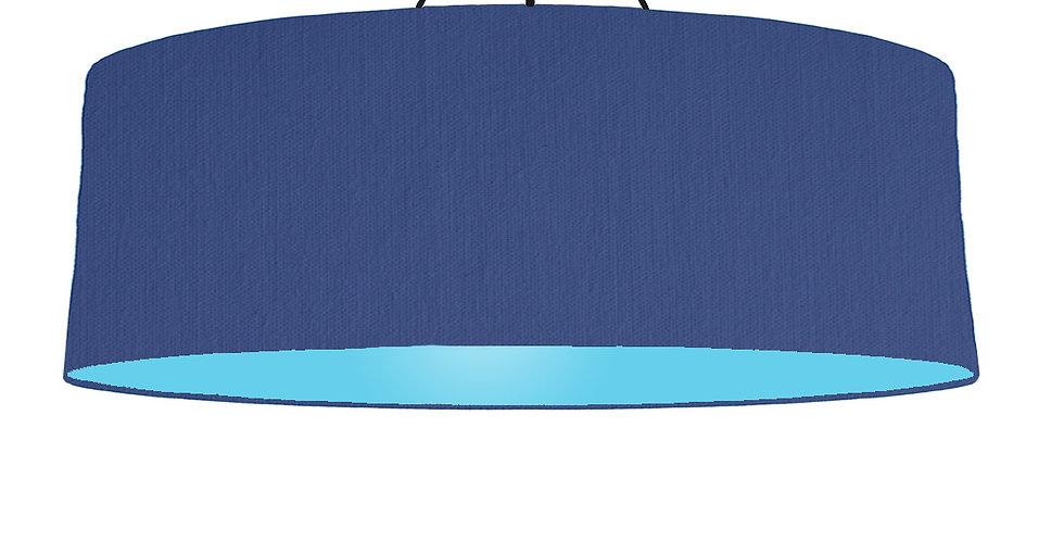 Royal Blue & Light Blue Lampshade - 100cm Wide