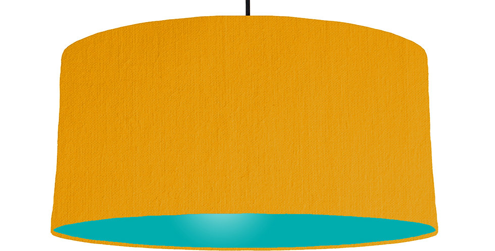 Mustard & Turquoise Lampshade - 60cm Wide