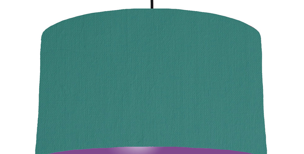 Jade & Purple Lampshade - 50cm Wide