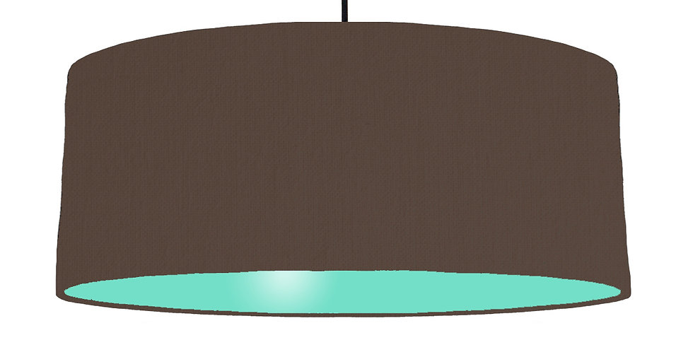 Brown & Mint Lampshade - 70cm Wide