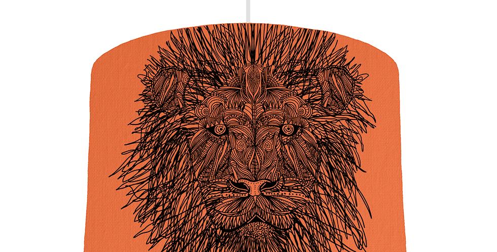 Lion Shade - Orange Fabric
