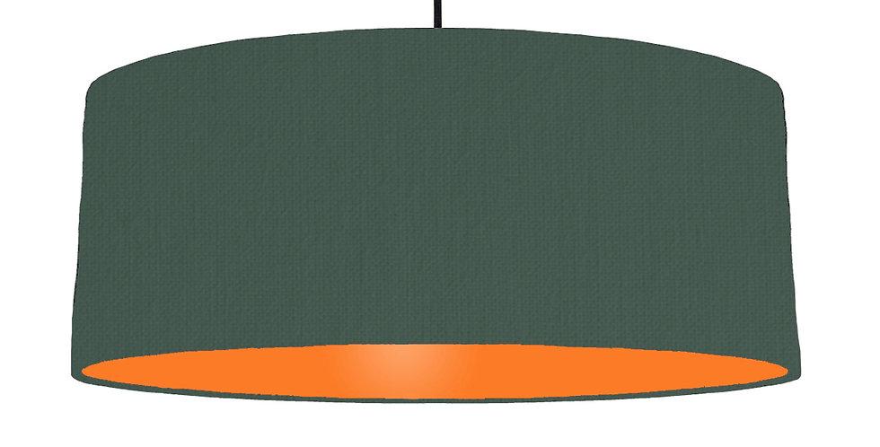 Bottle Green & Orange Lampshade - 70cm Wide