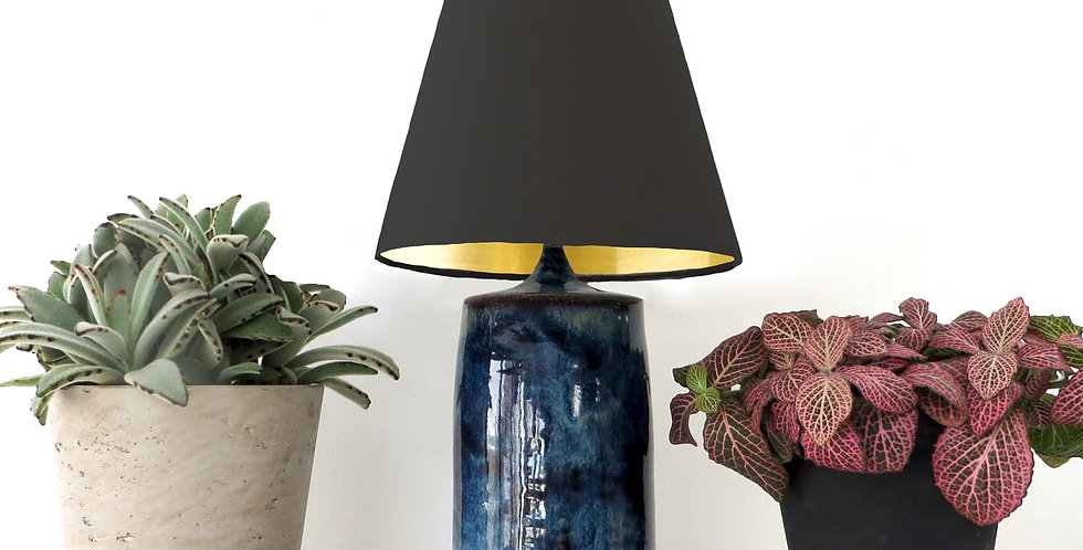 Conical Lampshade (10Tx20Bx20H) - Gold Mirror lining
